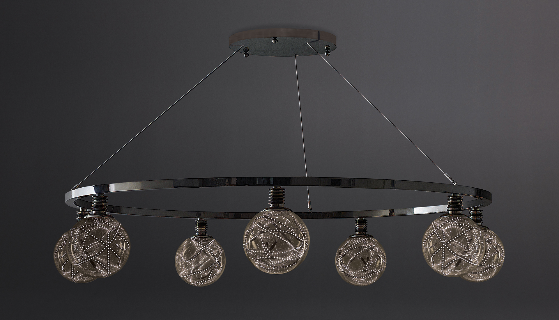 Higgs hanging lamp, result of the collaboration between Promemoria and the architect Piero Castiglioni | Promemoria