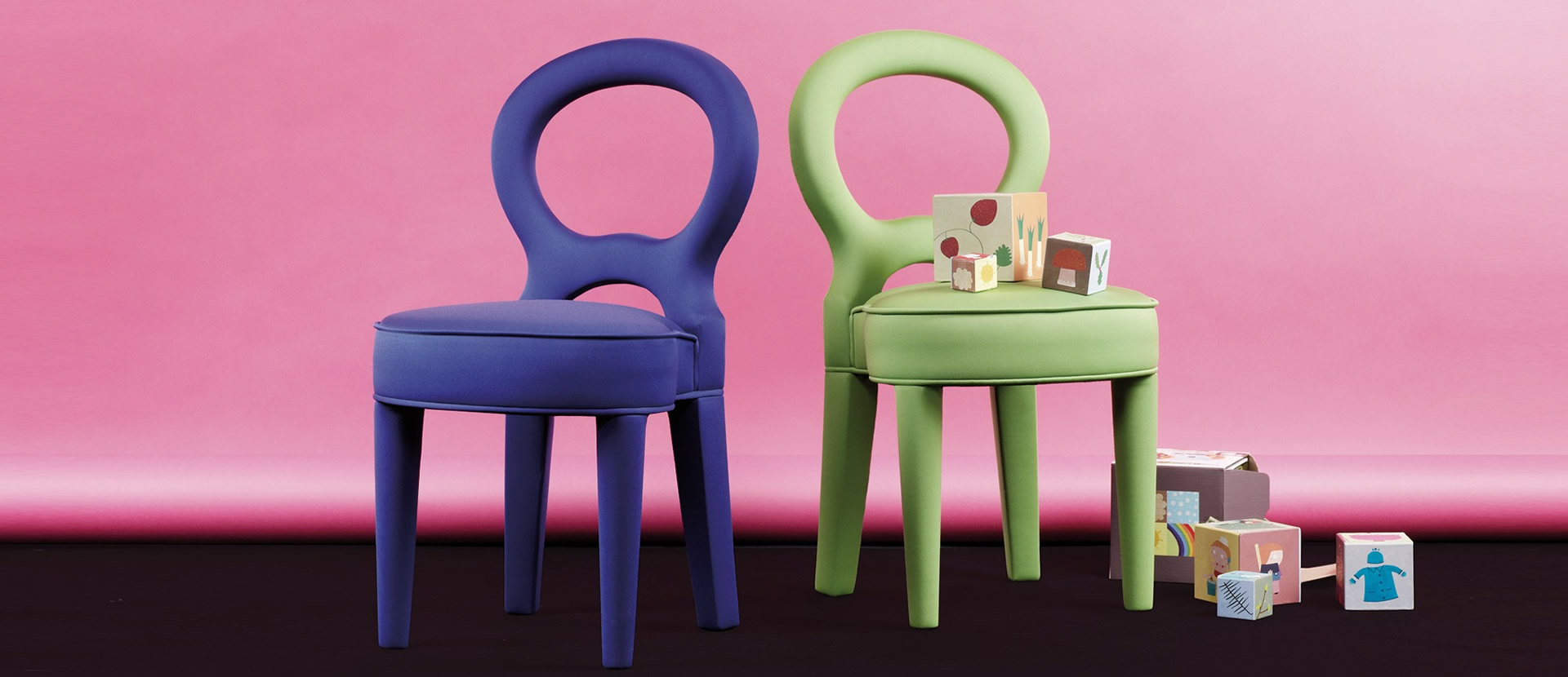 Miniature Bilou Bilou chair, that belongs to the Kids Collection which is a reinterpretation of some of the iconic pieces of Promemoria | Promemoria