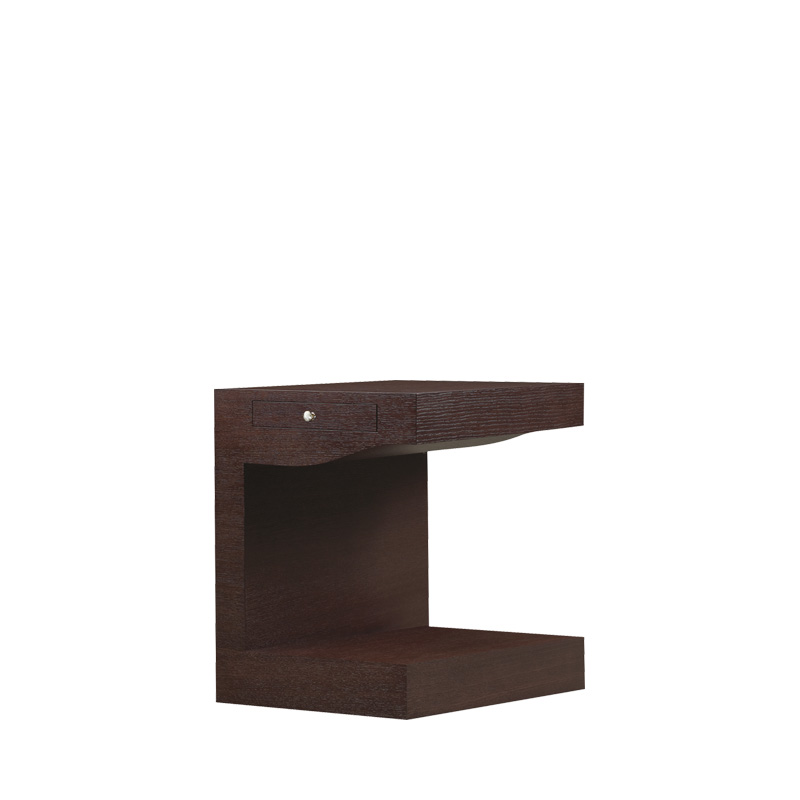 Zoe is a wooden bedside table with wheels and a bronze knob from the Promemoria's catalogue | Promemoria