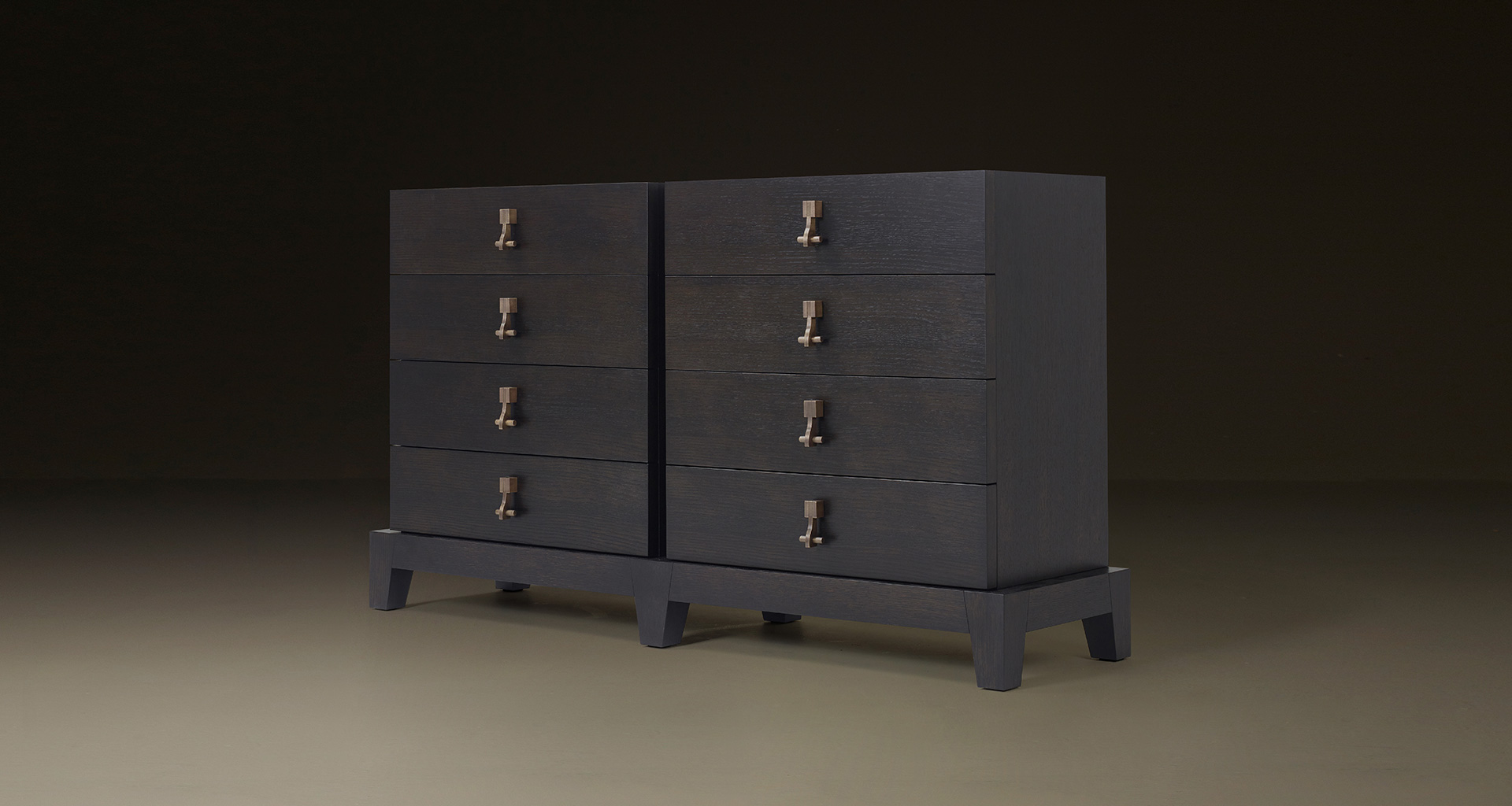 Amarcord is a wooden chest of drawers that can have bronze drawer fronts from Promemoria's catalogue | Promemoria