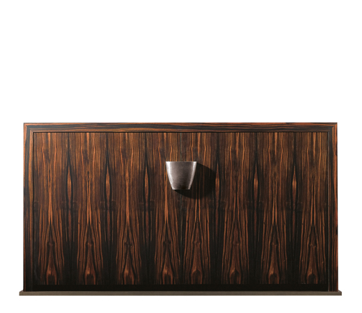 Bonaventura is a wooden cabinet with bronze base and handle, from Promemoria's catalogue | Promemoria