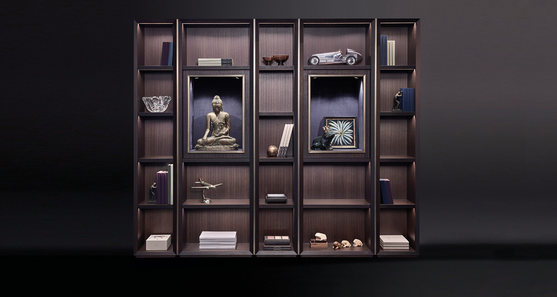 Promemoria Nightwood Wooden Modular Bookcase