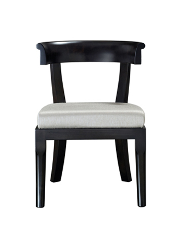 Irene is a wooden dining chair with a semi-circle backrest, from Promemoria's catalogue | Promemoria
