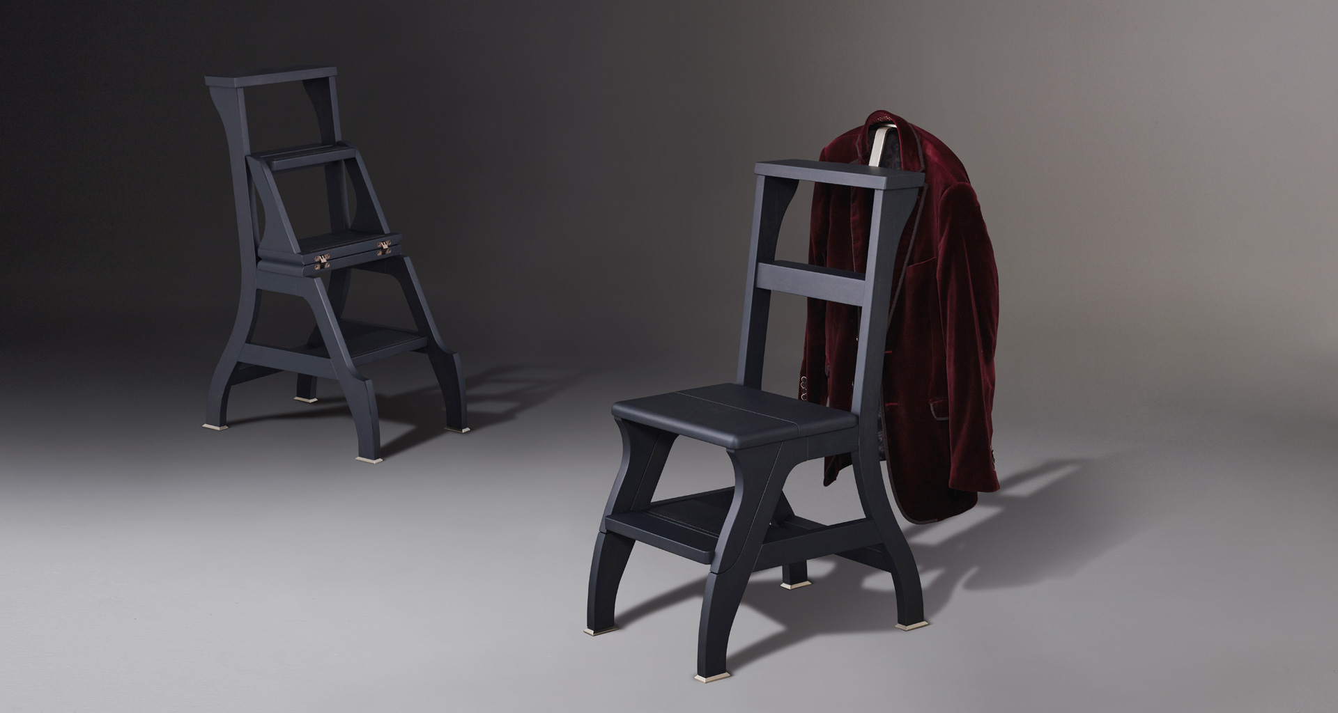 + Rebecca is a wooden convertile ladder-chair with metal or bronze feet from Promemoriau0027s : rebecca chair - Cheerinfomania.Com