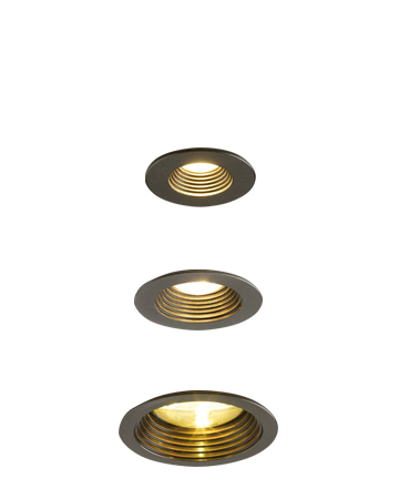 Eliot is a recessed LED downlight in bronze, from Promemoria's catalogue | Promemoria