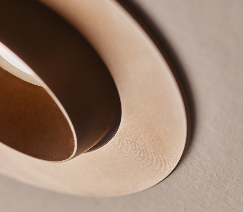 Detail of Eliot, a recessed LED downlight in bronze, from Promemoria's catalogue | Promemoria