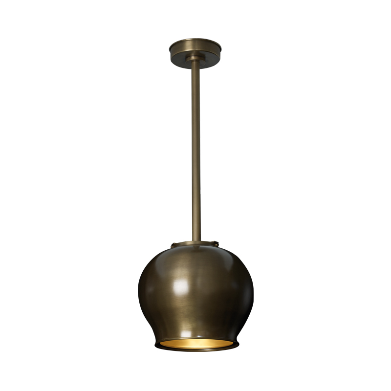 Anfora is a hanging bronze LED lamp with a methacrylate diffuser, from Promemoria's catalogue | Promemoria
