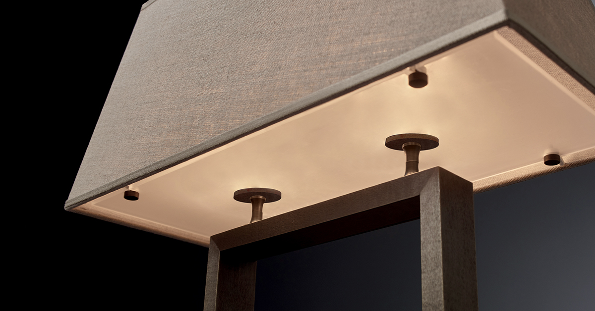 Promemoria agatha lampada da tavolo in bronzo a led