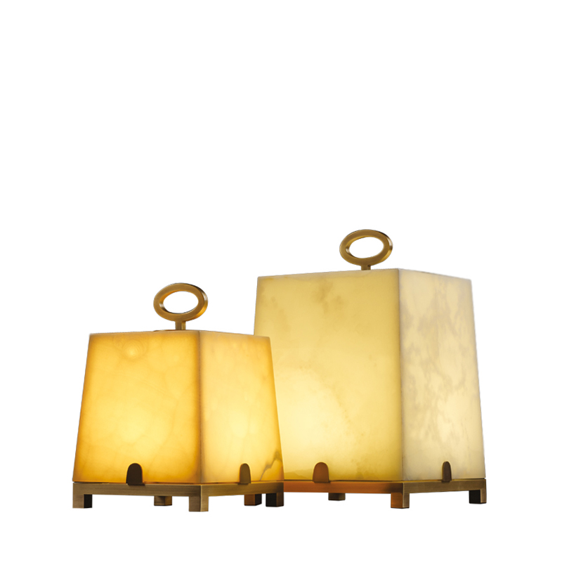 Karina is a table LED lamp in bronze or onyx, from Promemoria's catalogue | Promemoria