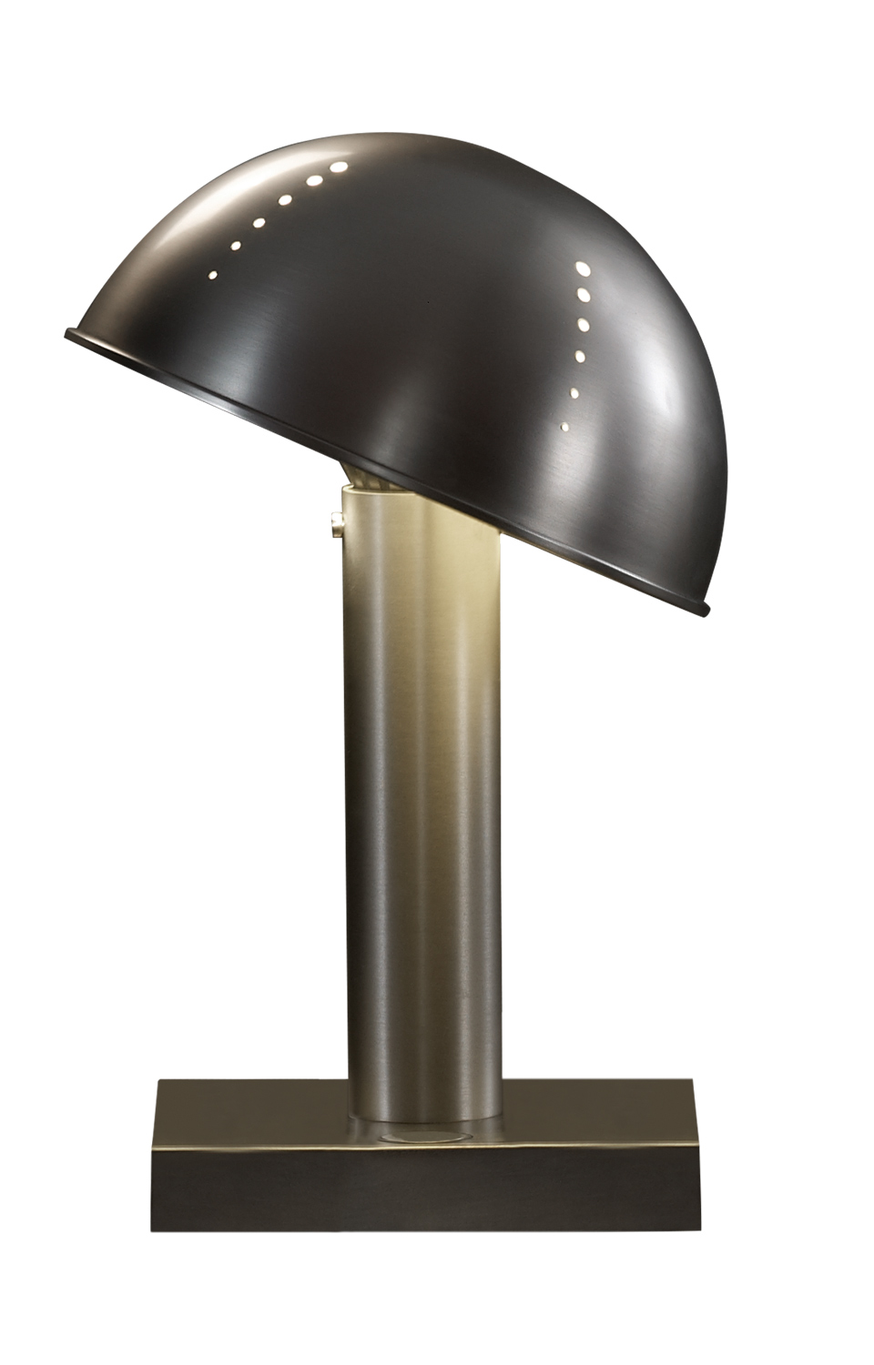 Luciola is a table LED lamp available in bronze, chrome or nickel, from Promemoria's catalogue | Promemoria