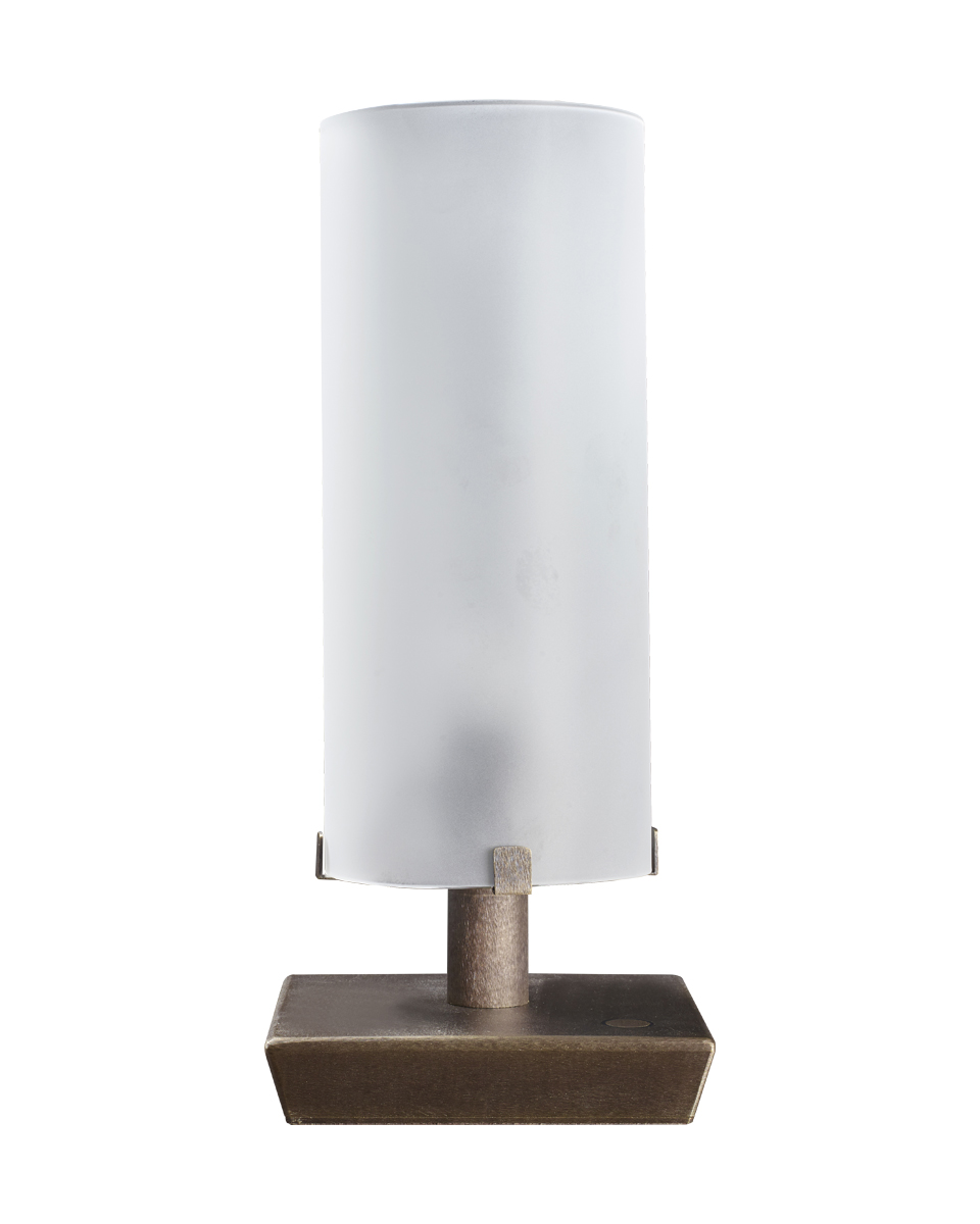Marguerite is a table lamp with bronze structure and glass lampshade, from Promemoria's catalogue | Promemoria