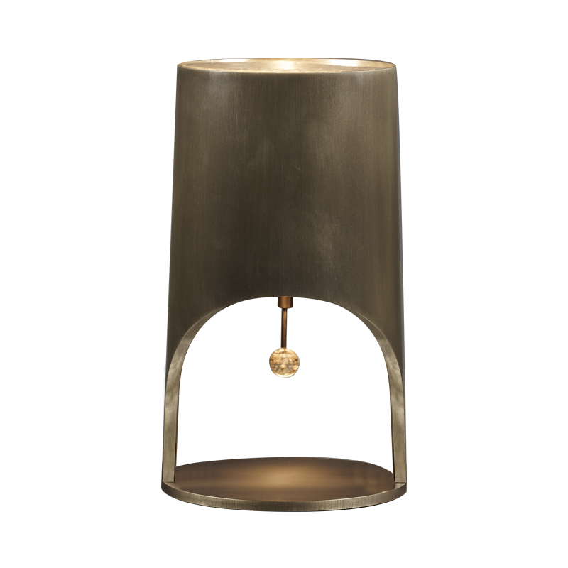 Mimì is a table lamp with bronze structure and Murano glass pendant, from Promemoria's Capsule Collection by Bruno Moinard | Promemoria