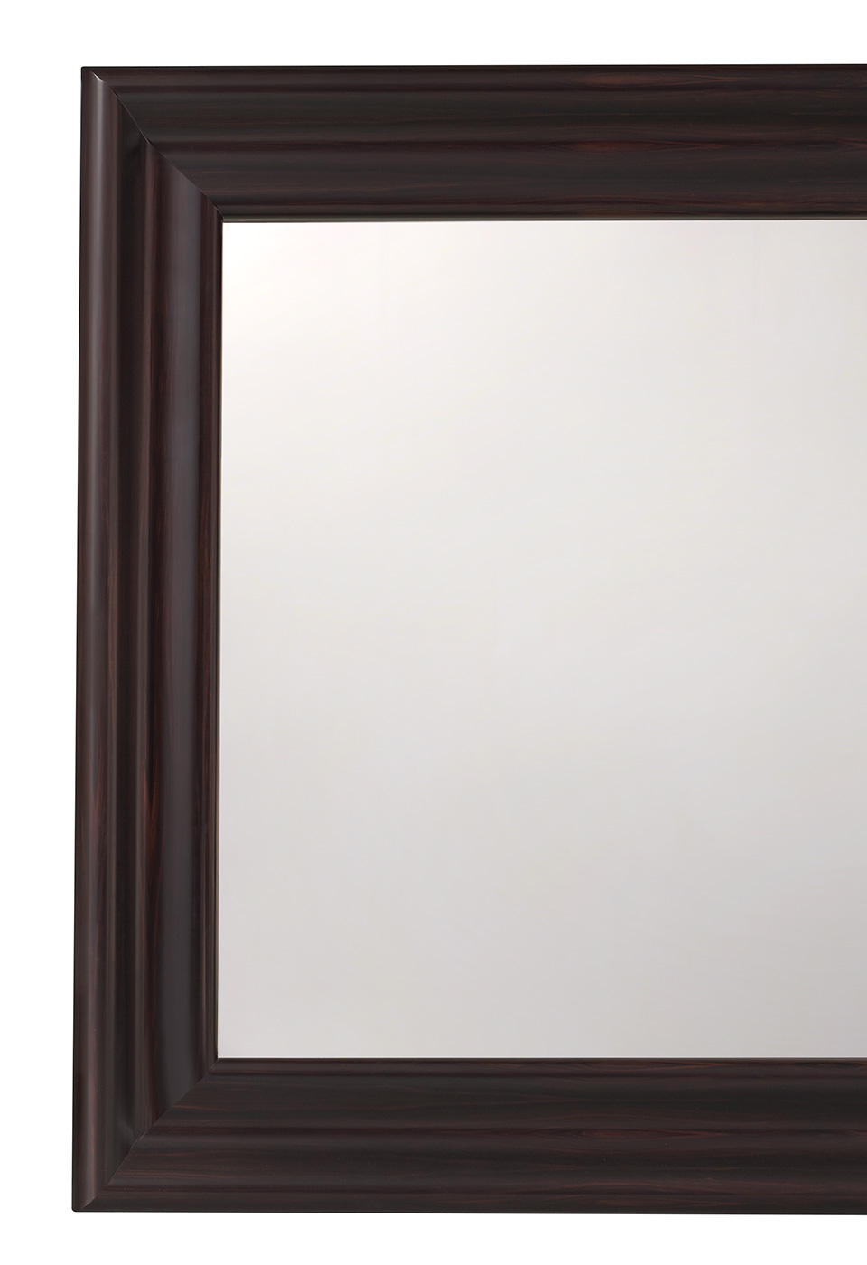 Michele is a large mirror with a wooden frame from the Promemoria's catalogue | Promemoria