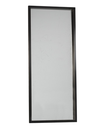 Orfeo is a wall mirror with a bronze structure, from the Promemoria's catalogue | Promemoria