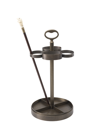 Fred is a bronze umbrella stand from Promemoria's catalogue | Promemoria