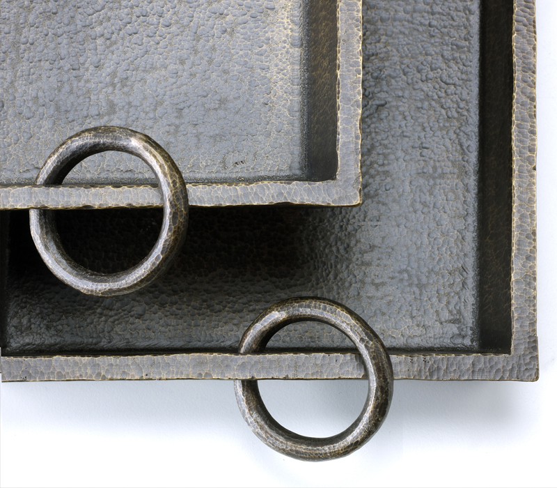 Detail of Vuotatasche, a small bronze object holder, from Promemoria's catalogue | Promemoria