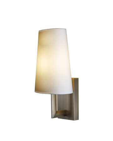 Rosa is a bronze outdoor wall lamp with fabric shade, from Promemoria's outdoor catalogue | Promemoria