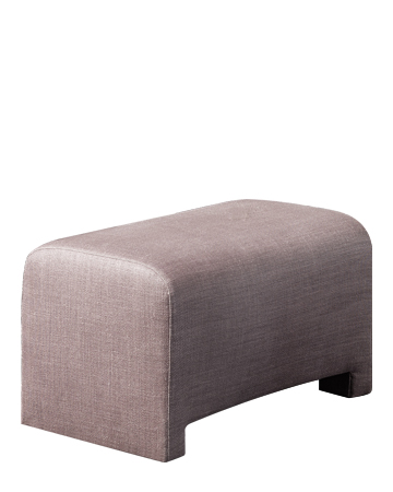 Ginevra is a pouf covered in fabric or leather, from Promemoria's catalogue | Promemoria