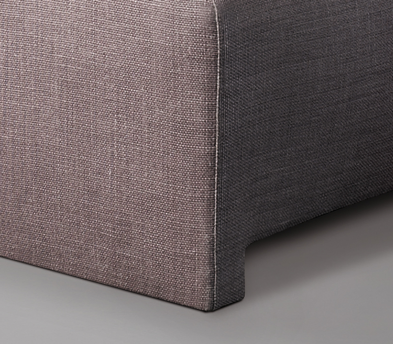 Detail of Ginevra, a pouf covered in fabric or leather, from Promemoria's catalogue | Promemoria