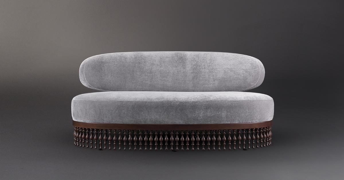 Promemoria Istanbul Fabric And Leather Sofa