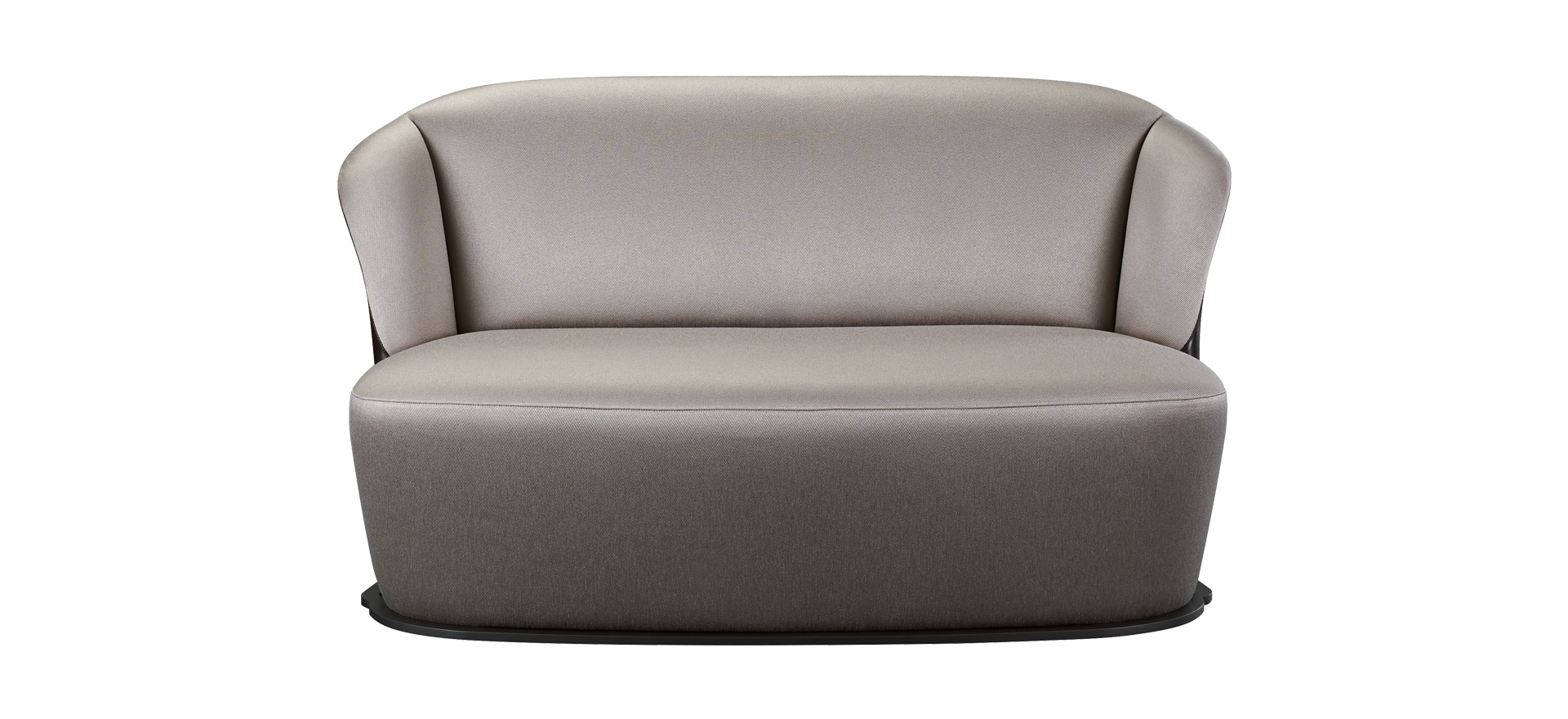 Rosaspina is a sofa covered in fabric and leather with a metal base, from Promemoria's catalogue | Promemoria