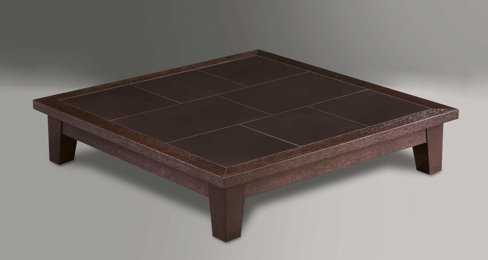 Eduardo is a square or rectangular wooden coffee table from Promemoria's catalogue | Promemoria