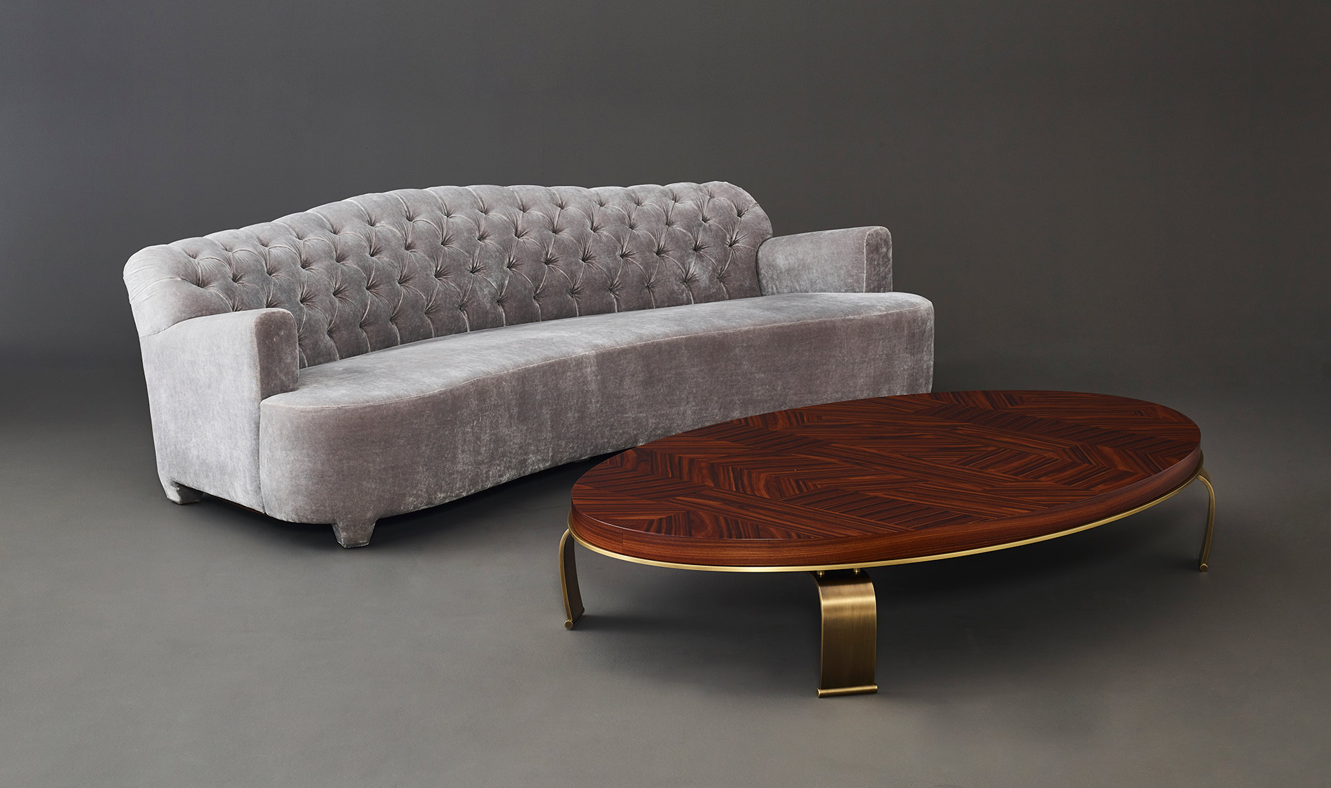 Sumo Is An Oval Or Rectangular Coffee Table With Wooden Top And Bronze Legs From
