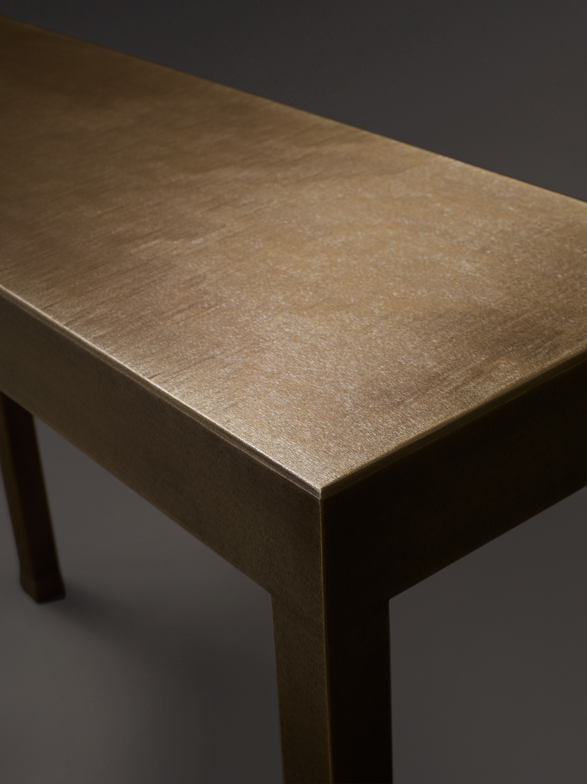 Detail of Gong, a bronze console from Promemoria's catalogue | Promemoria