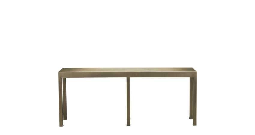 Gong is a bronze console from Promemoria's catalogue | Promemoria