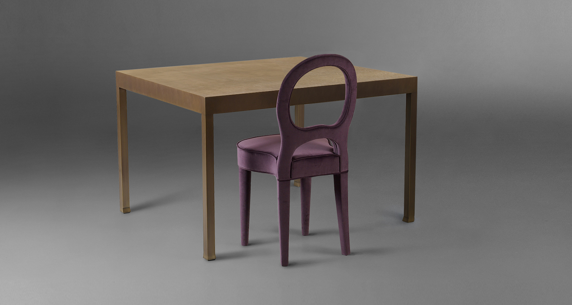 Promemoria gong tavolo da pranzo in bronzo e vetro - Promemoria mobili ...
