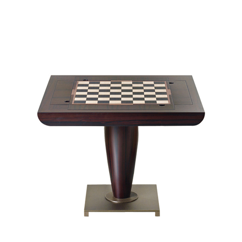 Promemoria Bassano Da Gioco Gaming Table In Wood And Bronze Gorgeous Wooden Gaming Table
