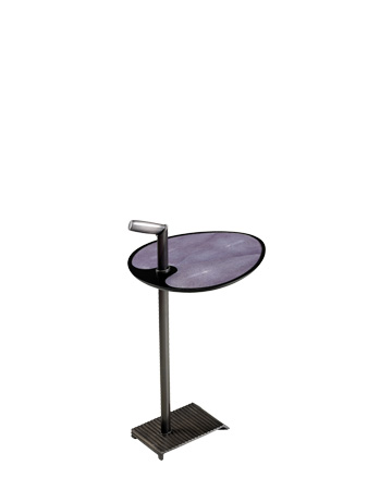 Bip Bip is a bronze small table with bronze, leather, galuchat or horn top, from Promemoria's catalogue | Promemoria