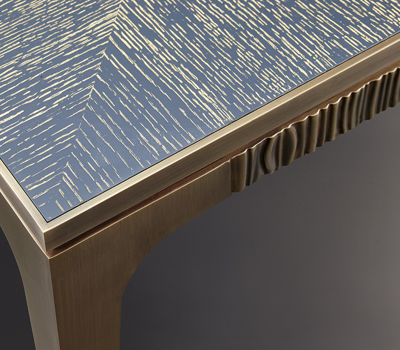 Bronze details of Lowndes, a bronze small table from Promemoria's The Londong Collection | Promemoria