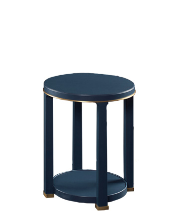 Momus is a wooden small table and gueridon with bronze base and profile, from Promemoria's Night Tales collection | Promemoria