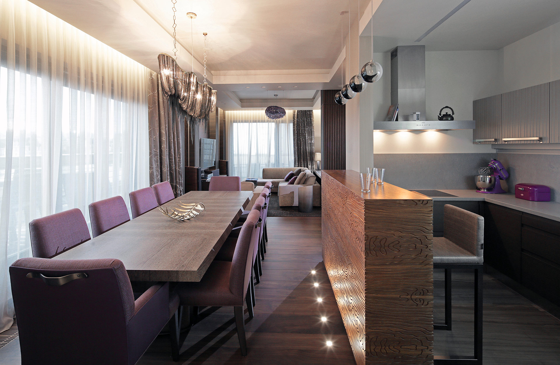 Dining room in a private residence in Moscow furnished with Promemoria | Promemoria