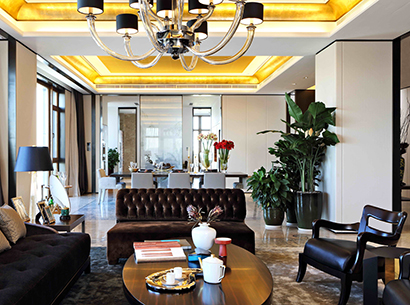 Living room in a private residence in Beijing furnished with Promemoria | Promemoria