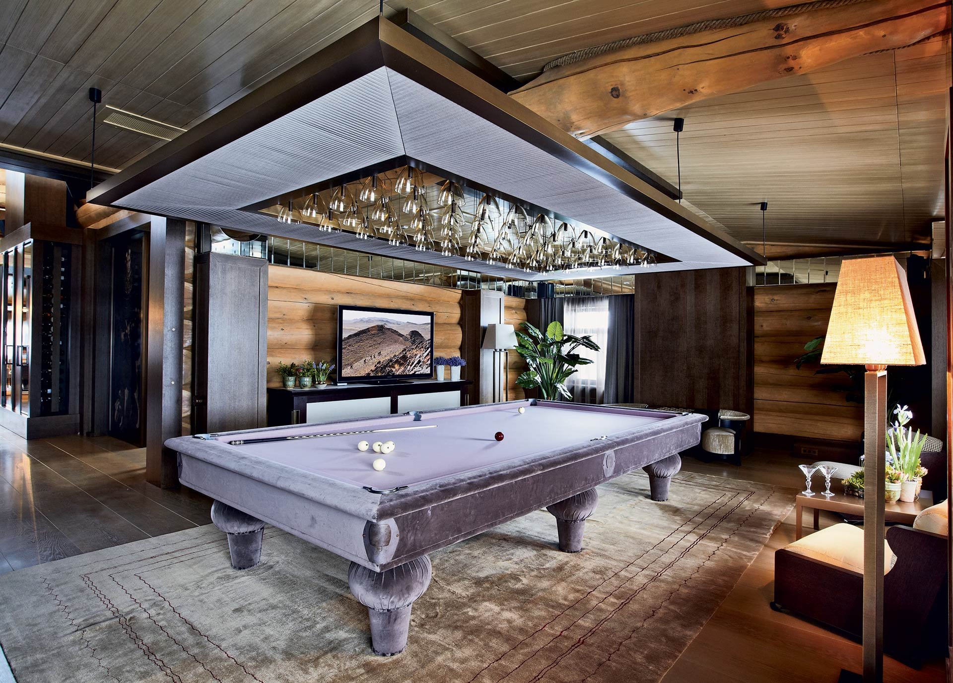Billiard room in a private residence in Moscow furnished with Promemoria | Promemoria