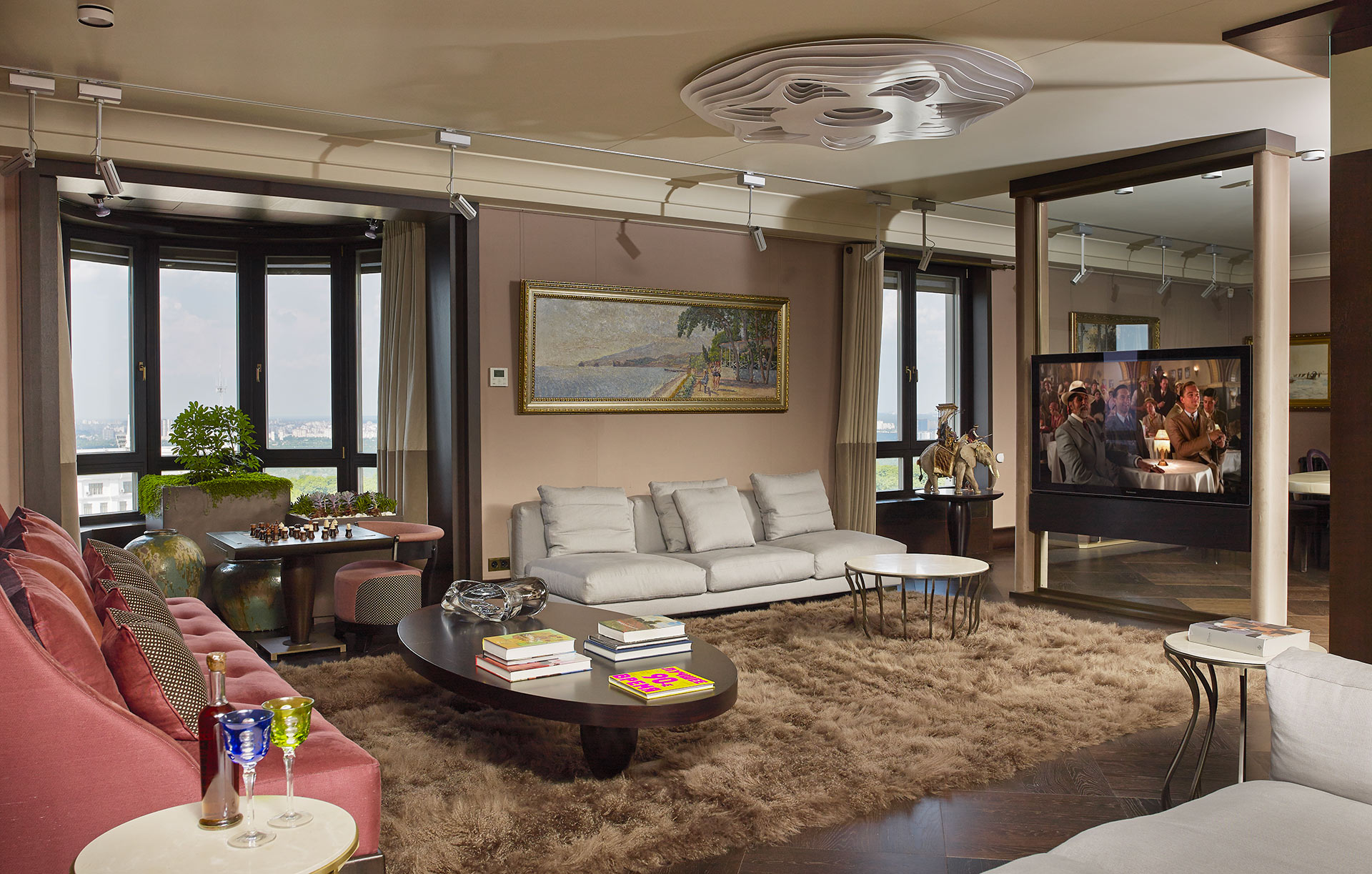 Living room of a private residence in Kiev furnished with Promemoria | Promemoria