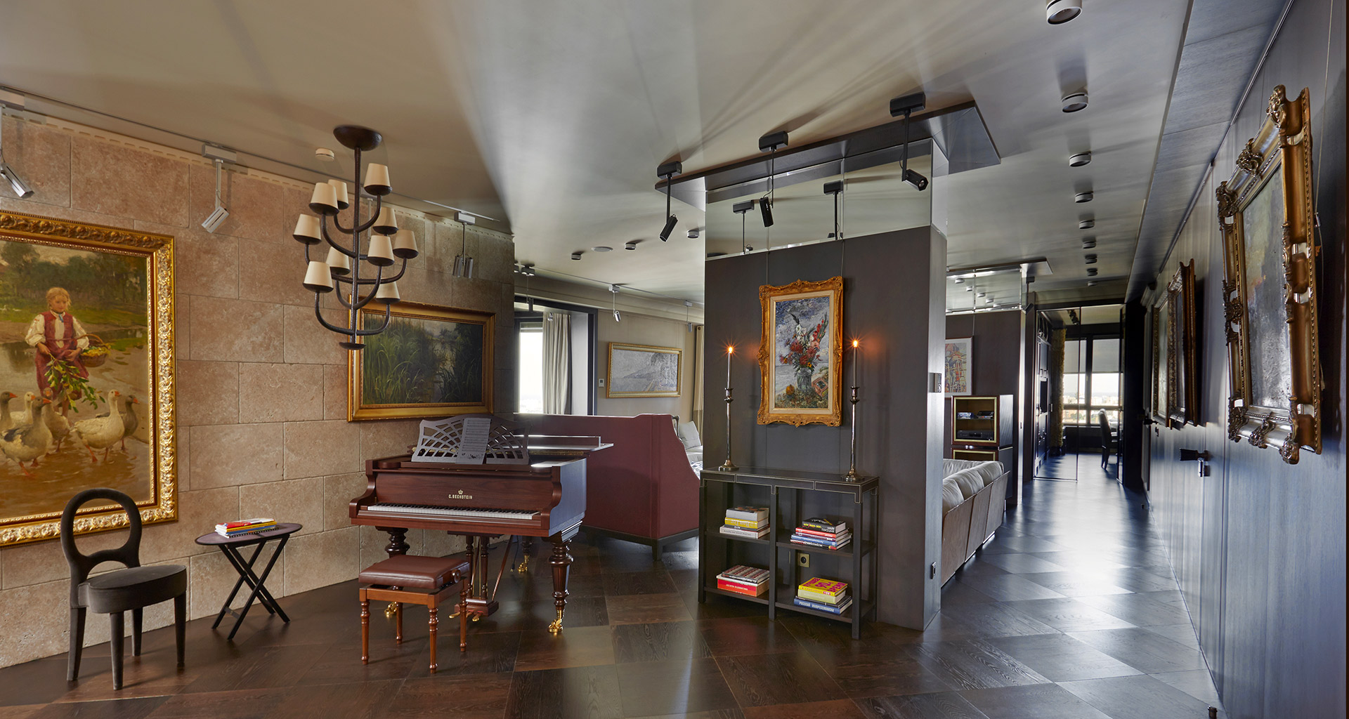 Piano room of a private residence in Kiev furnished with Promemoria | Promemoria