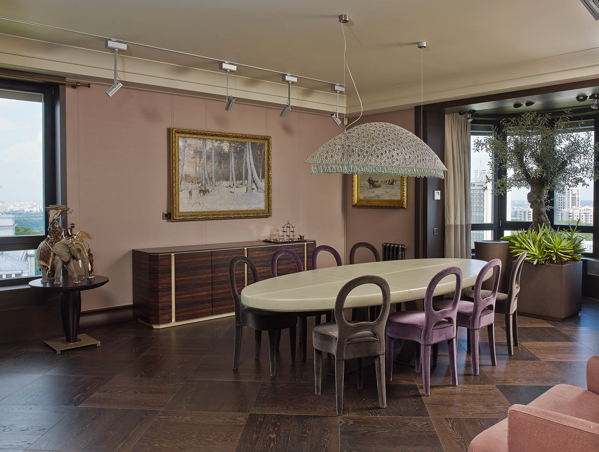 Dining room of a private residence in Kiev furnished with Promemoria | Promemoria