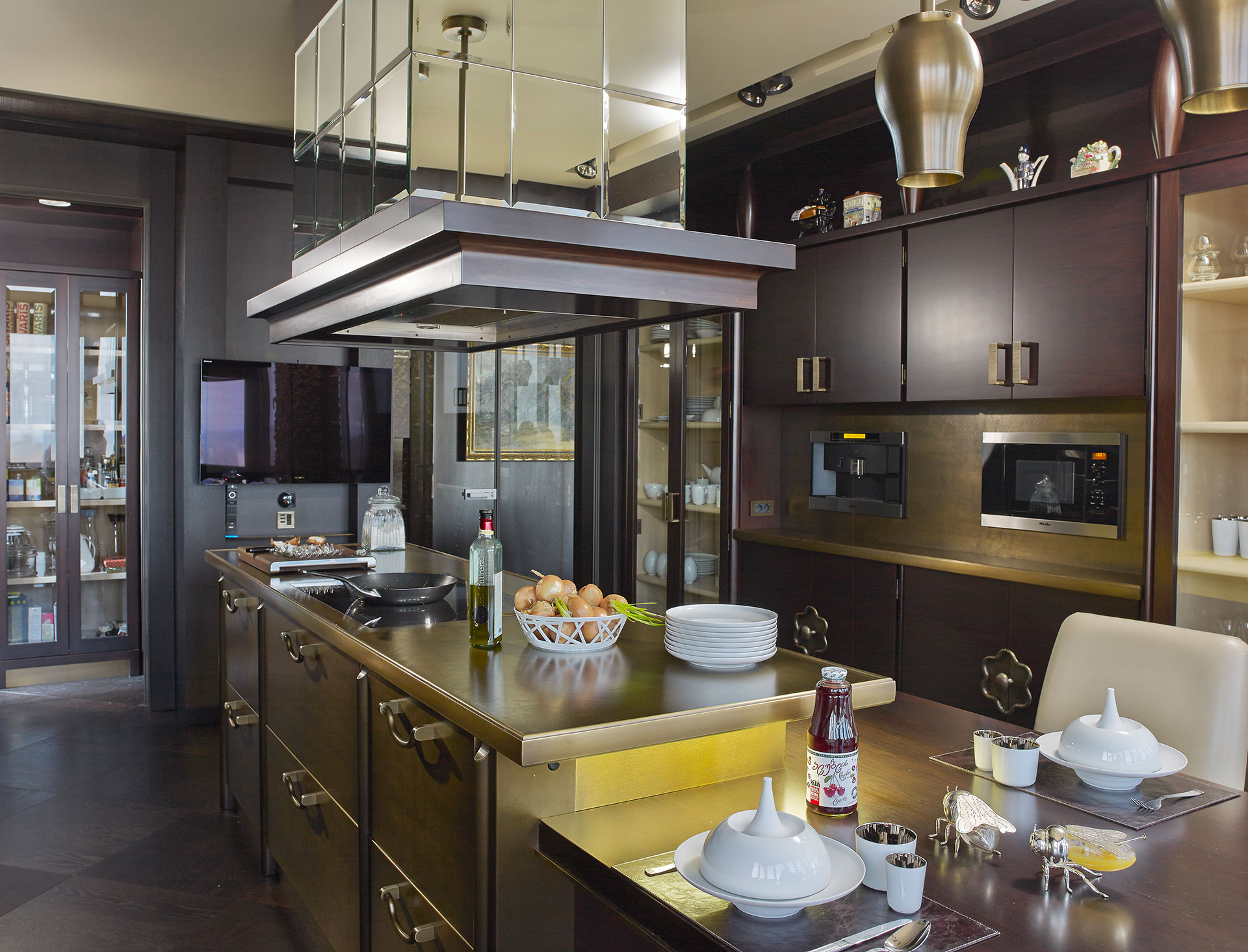 Angelina Kitchen in a private residence in Kiev furnished with Promemoria | Promemoria