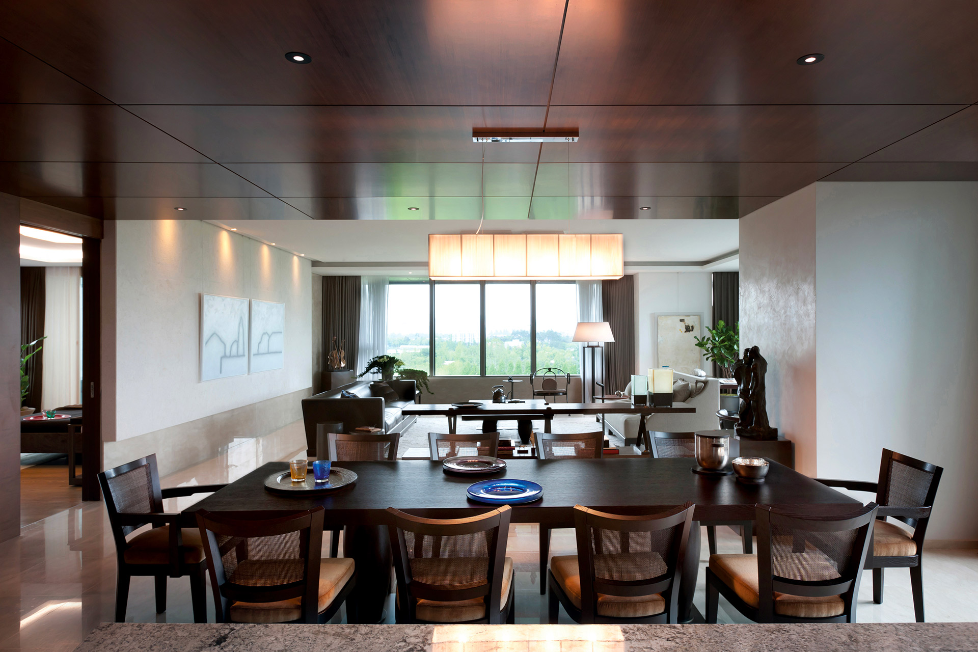 Dining room of a private residence in Korea furnished with Promemoria | Promemoria