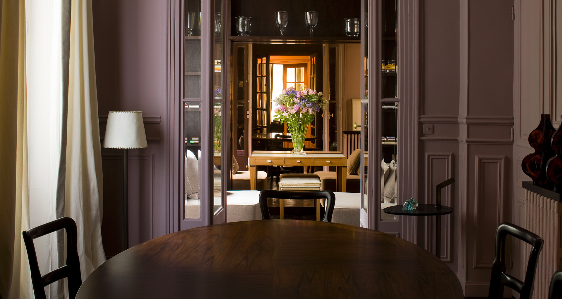 Dining room of a private residence in Paris furnished with Promemoria | Promemoria