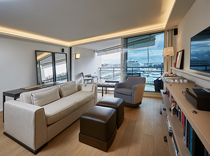Living room in a private residence in Montecarlo furnished with Promemoria | Promemoria