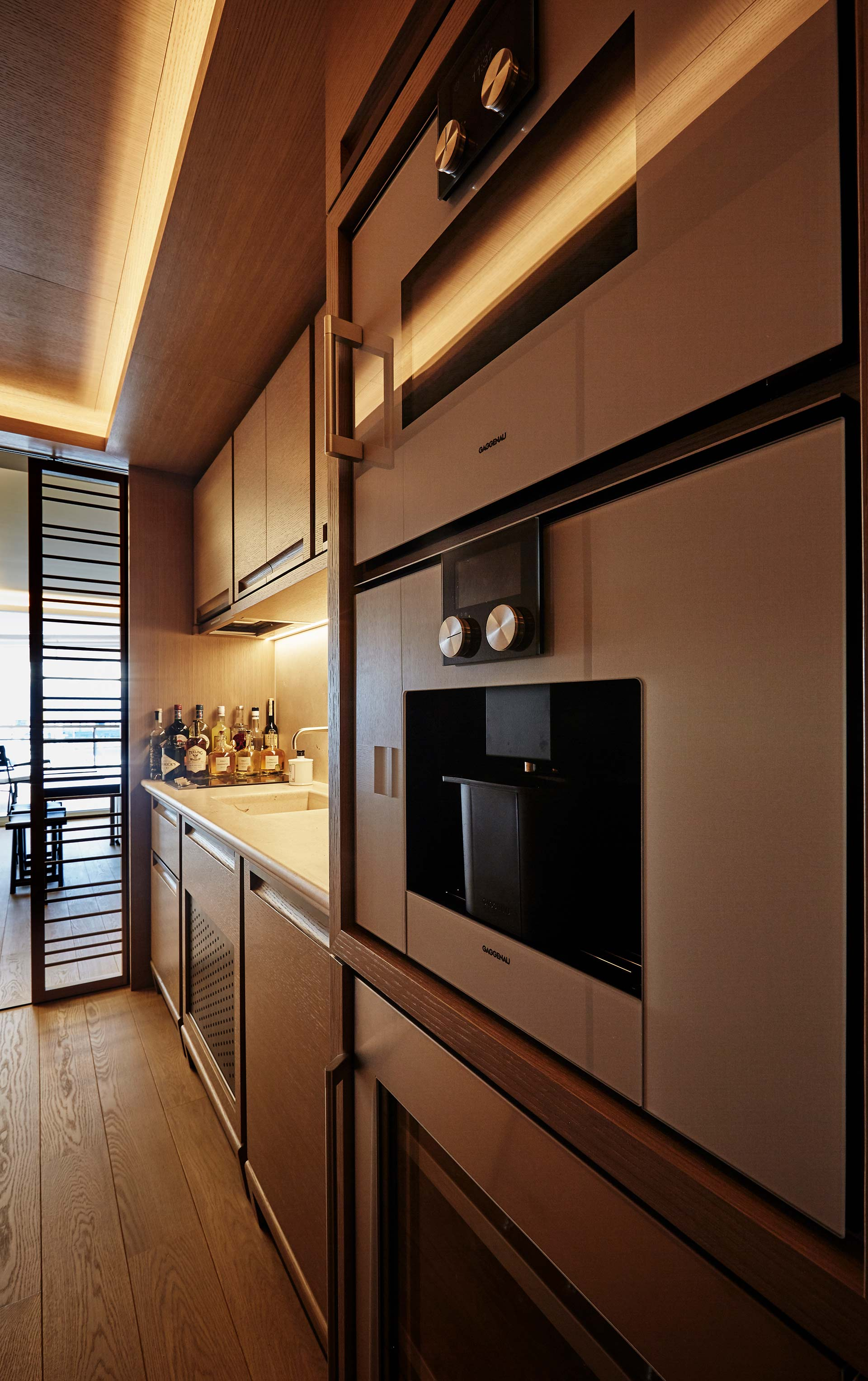 Kitchen of a private residence in Montecarlo furnished with Promemoria | Promemoria
