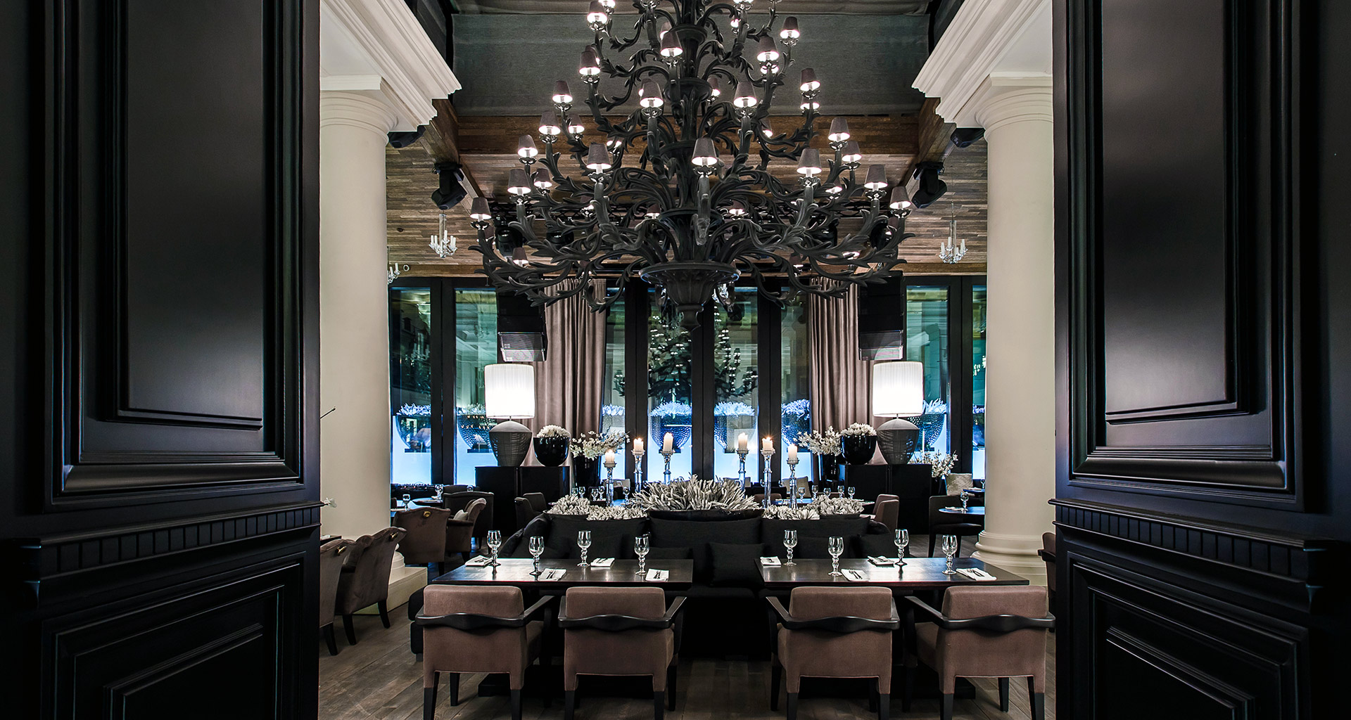 Dining room of the Siberia restaurant in Moscow furnished with Promemoria | Promemoria