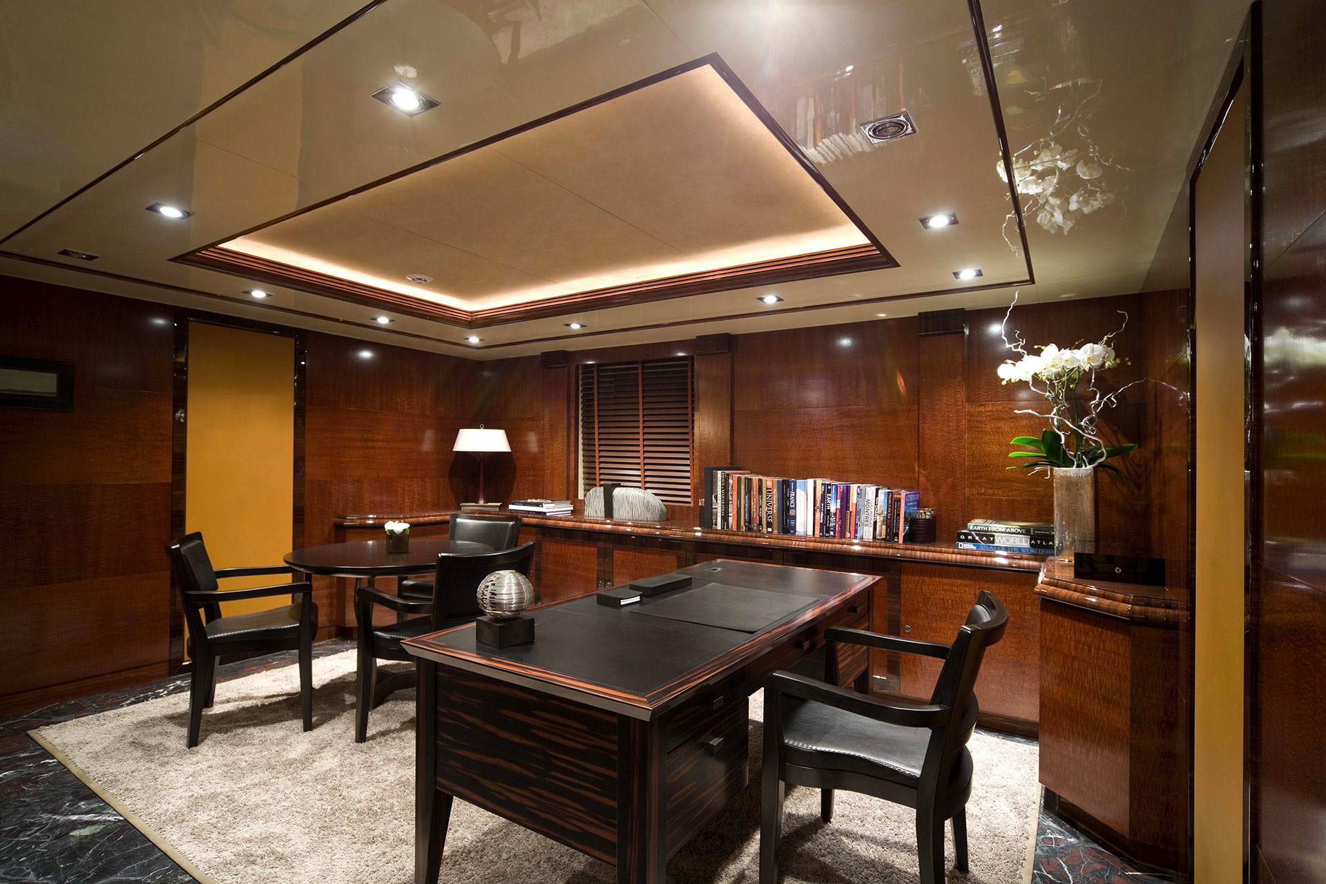 Studio in the AZTECA Yacht furnished with Promemoria | Promemoria