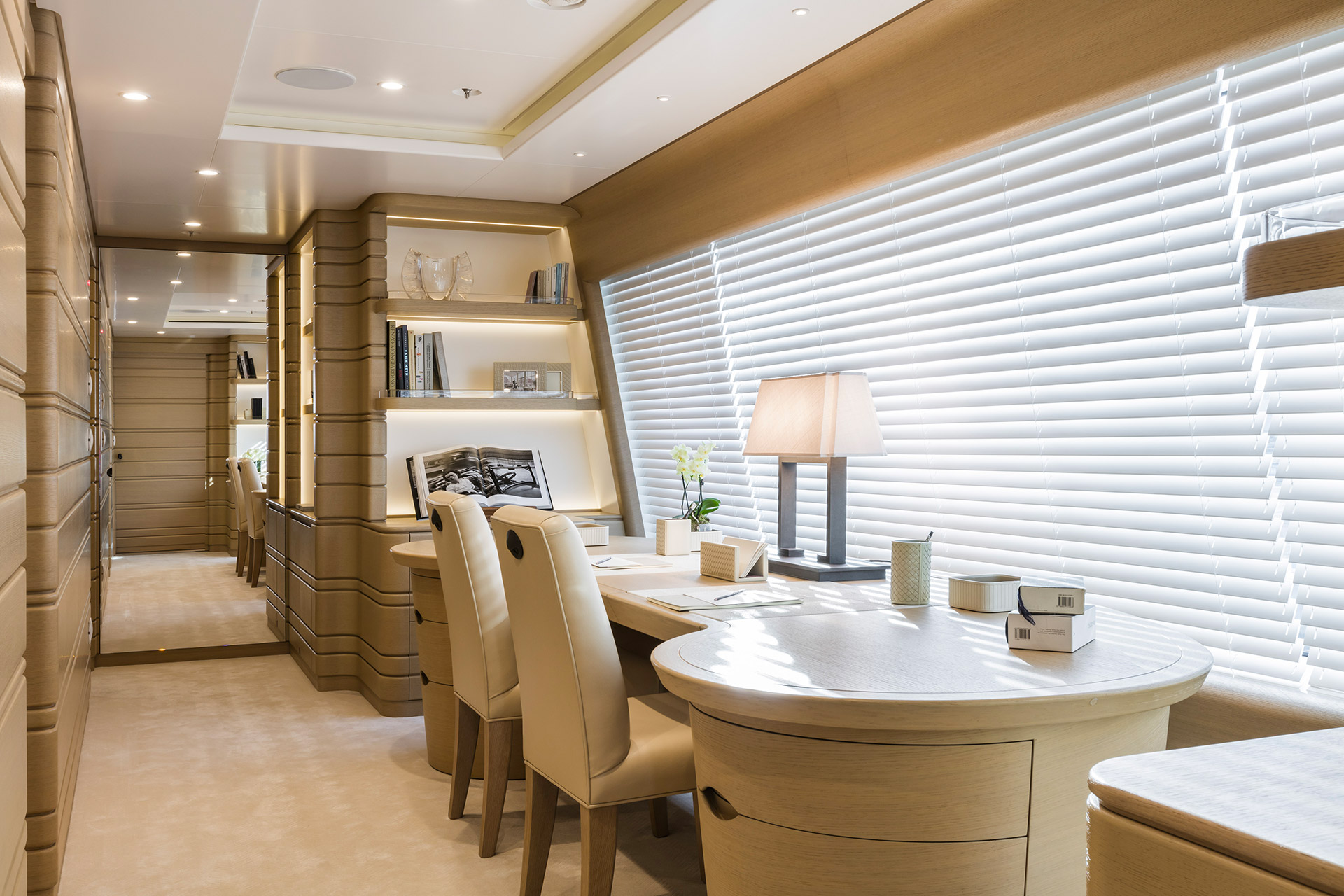 Office of a Yacht designed by FM Architettura and furnished with Promemoria | Promemoria