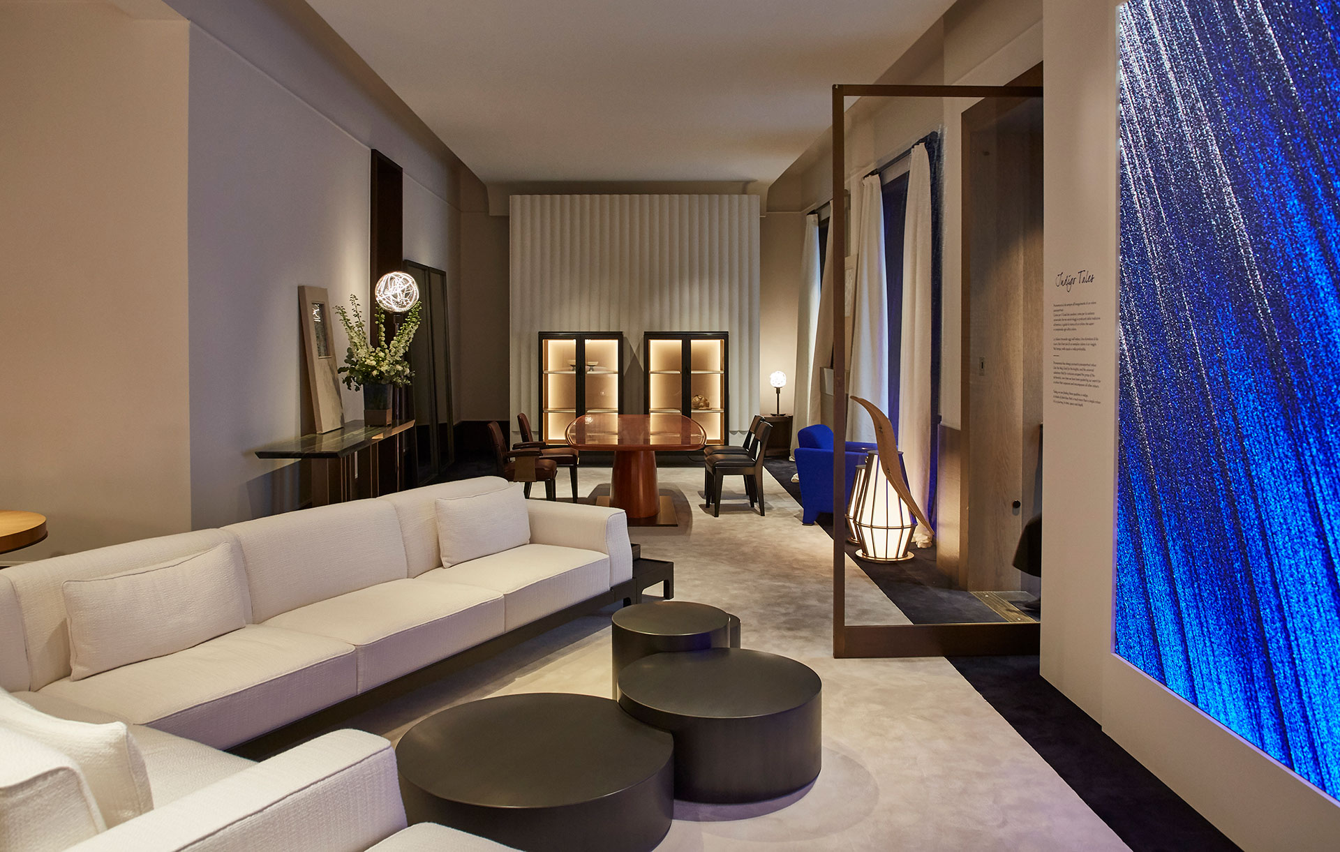 Living room Promemoria's single-brand showroom in Milan fashion district | Promemoria