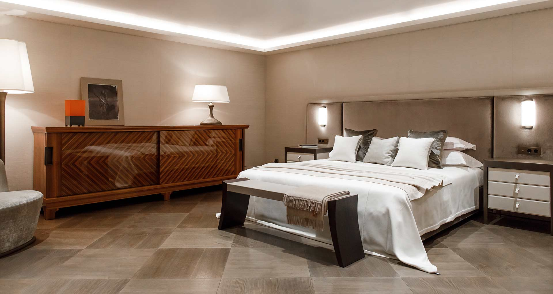 Bedroom in Promemoria's single-brand showroom in Moscow | Promemoria